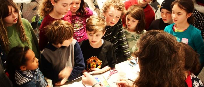 Holistic School Students in Art Workshop