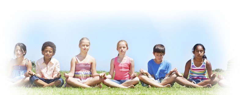 Private School Students Meditating