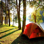 Camping Tent by The River in Asheville