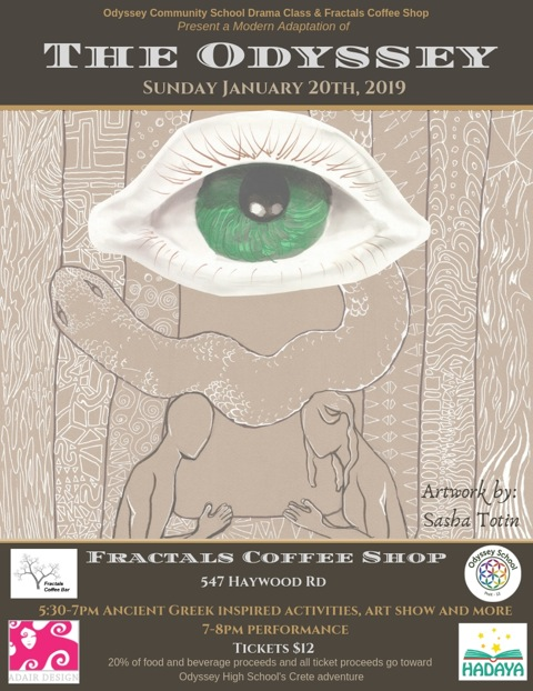 The Odyssey at Fractals Coffee Shop in Asheville