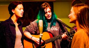 High School Students Singing in a Holistic School