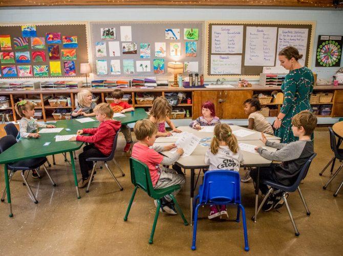 Grades 1-2 Classroom Learning in a Holistic School