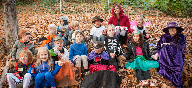Private School Kindergarten Students on Halloween